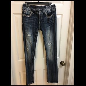 Miss Me Signature Cuffed Straight Jeans